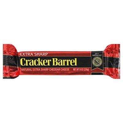 Cracker Barrel Cheese Extra Sharp Cheddar Chunk 8 oz Pack Of 3