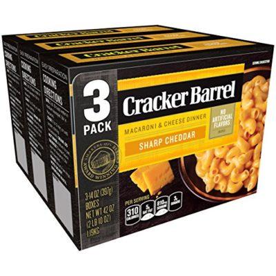 Cracker Barrel Macaroni and Cheese, Sharp Cheddar, 42 Ounce