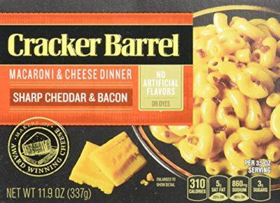 Cracker Barrel Macaroni and Cheese, Sharp Cheddar Bacon, 11.9 Ounce