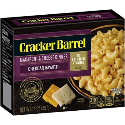 Cracker Barrel Macaroni and Cheese, Sharp Cheddar Havarti, 14 Ounce