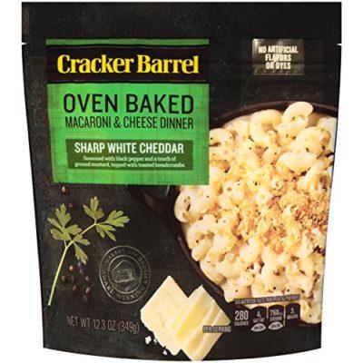 Cracker Barrel Oven Baked Macaroni & Cheese Dinner, Sharp White Cheddar, 12.34 Ounce
