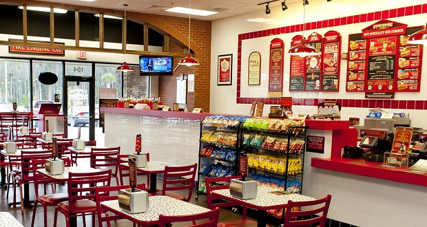 Interior Firehouse Subs Back of the Menu