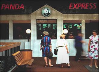Original Panda Express Back of the Menu