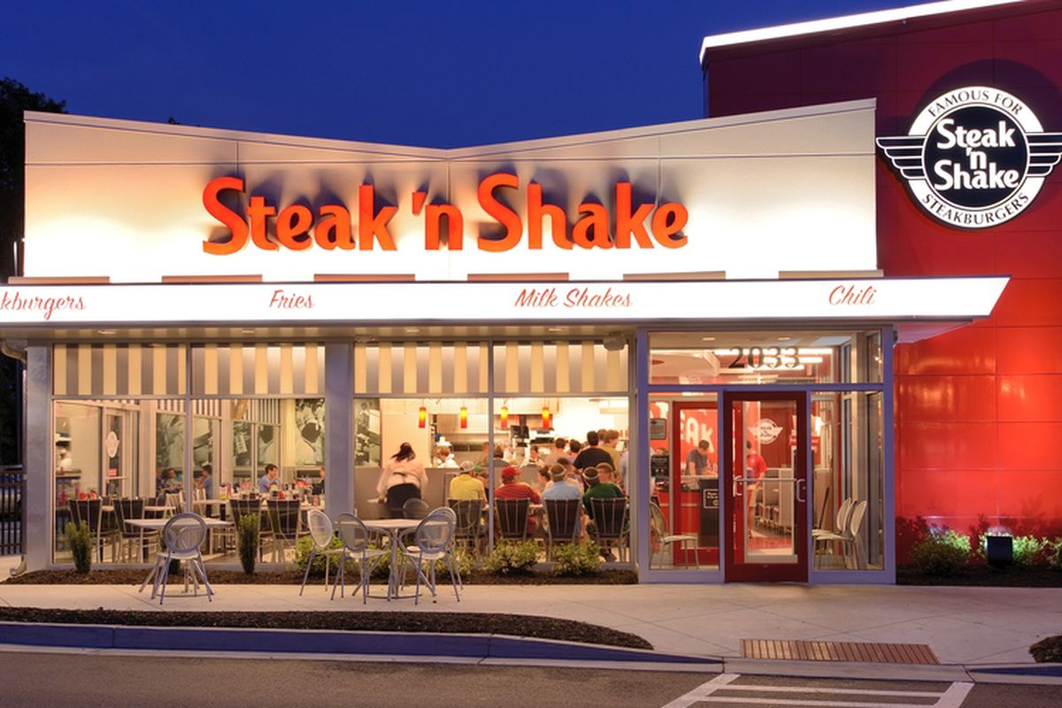 Steak N Shake Restaurant Back of the Menu
