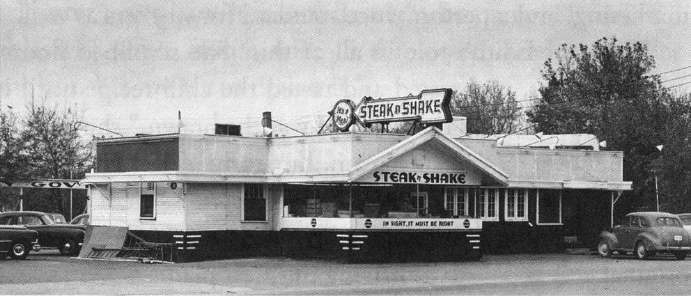 First Steak 'n Shake Restaurant Back of the Menu