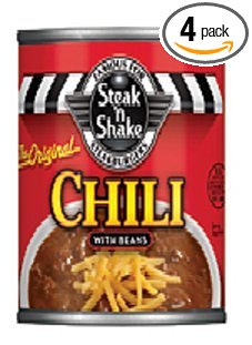 Steak 'n Shake Chili with Beans 15 Oz Can (Pack of 4)