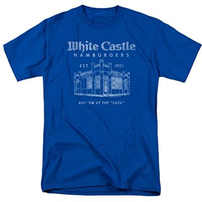 White Castle – Men's T-Shirt By the Sack, Large, Blue