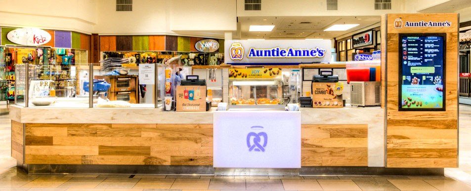 Interior Auntie Anne's Back of the Menu