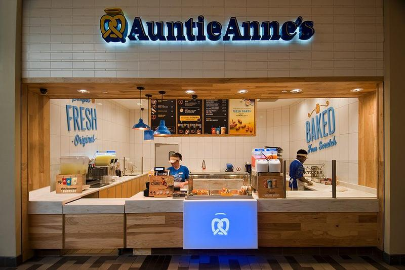 Back of the Menu Auntie Anne's Pretzels