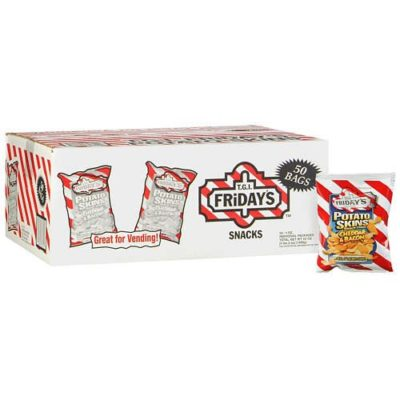 T.G.I. Friday' Cheddar & Bacon Flavor Potato Skins Chips