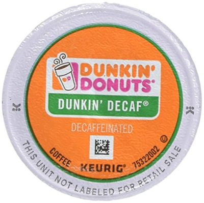 Dunkin Donuts 0846 K-Cup Pods, Decaf, 24/box