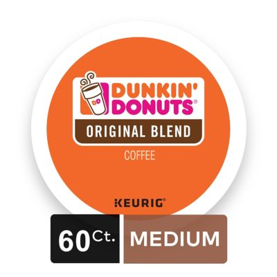 Dunkin' Donuts Original Blend Coffee for K-cup Pods, Medium Roast, 60 Count