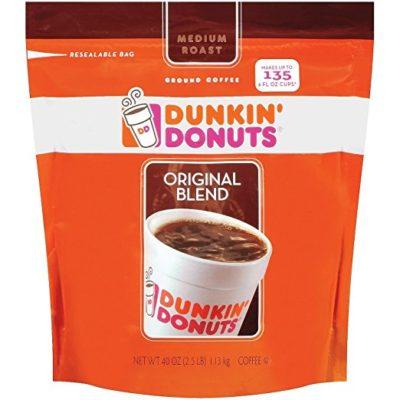 Dunkin' Donuts Original Medium Roast Blend Coffee, 1Pack (40oz Each)