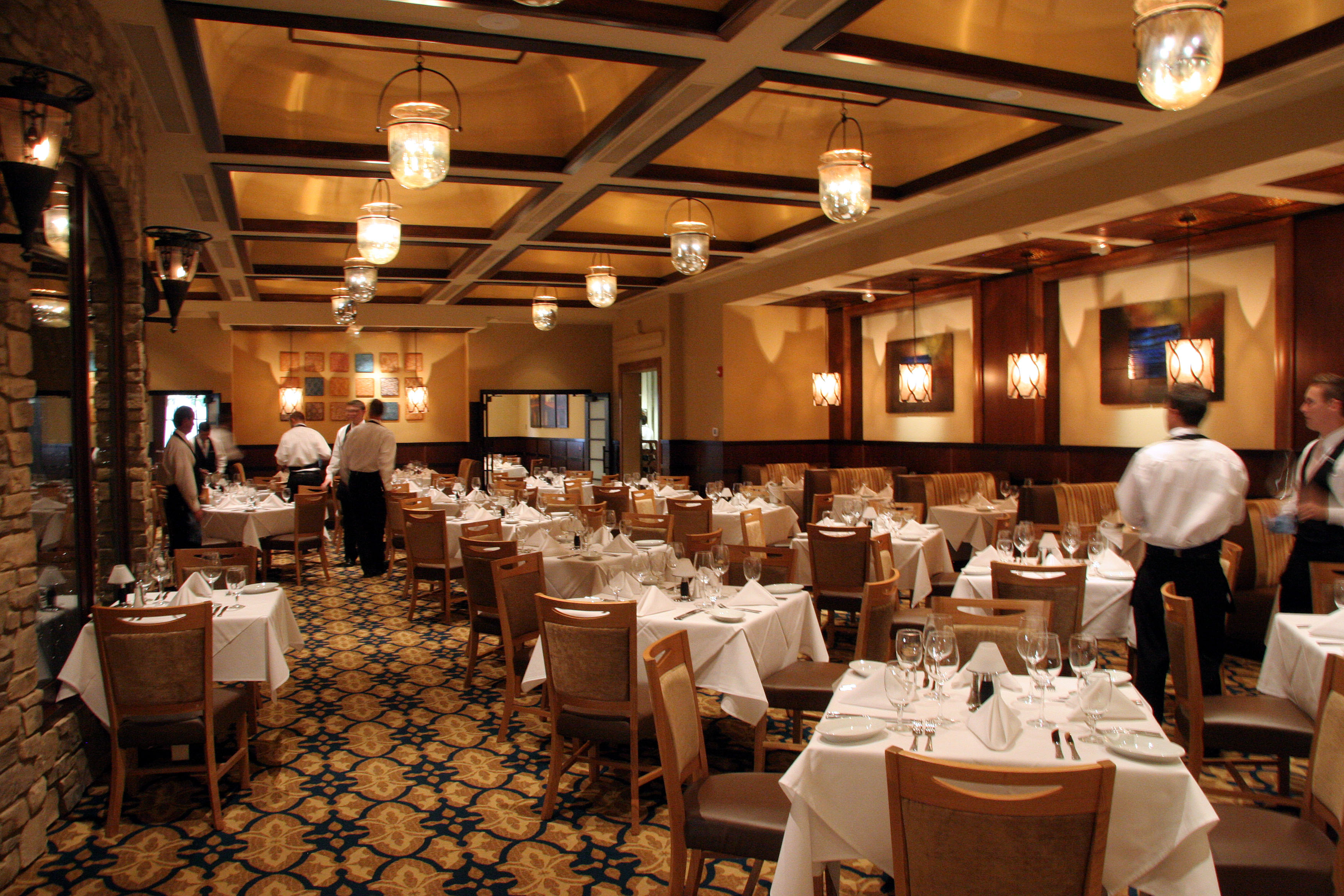 Interior of Ruth's Chris Steak House