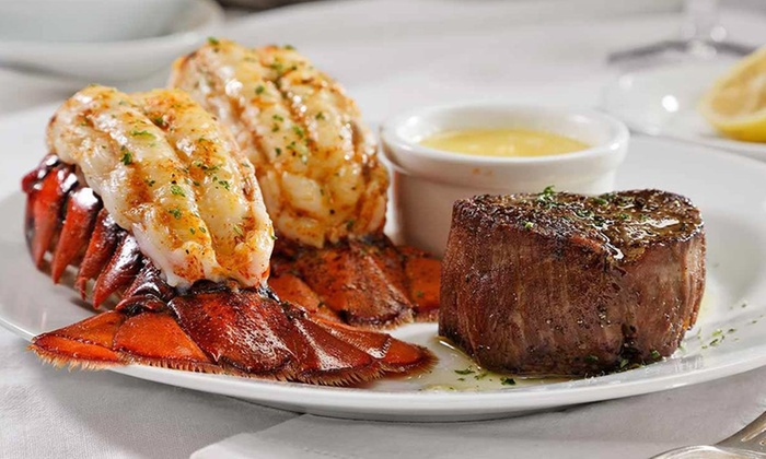 The food at Ruth's Chris Steak House