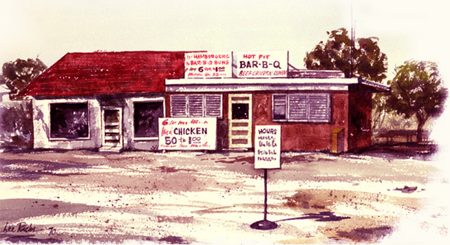 The very first Bill Miller Bar-B-Q located 2750 Offer Street, Austin, Texas and opened in 1953