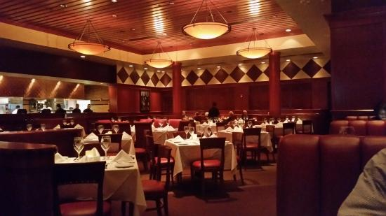 Interior of a Fleming's Steakhouse