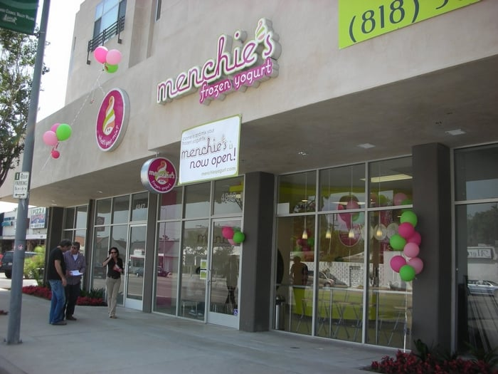 First Menchie's Frozen Yogurt