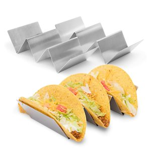 2 Pack – Stylish Stainless Steel Taco Holder Stand