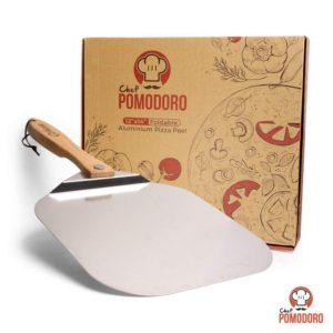 Aluminum Pizza Peel w/ Foldable Wood Handle