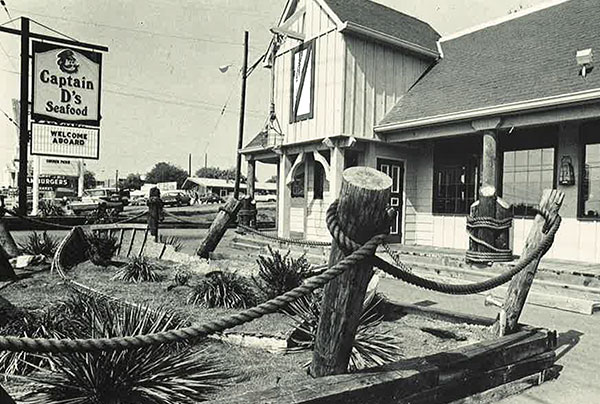 The original Captain D's Restaurant Back of the Menu