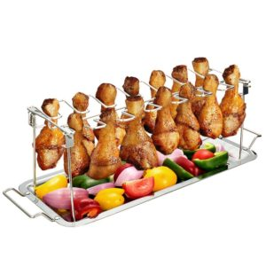 G.a HOMEFAVOR Chicken Leg Wing Rack Stainless Steel