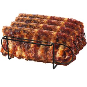 Sorbus Non-Stick Rib Rack – Porcelain Coated Steel Roasting Stand
