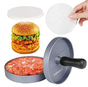 GWHOLE Non-Stick Burger Press Aluminum Hamburger Patty Maker