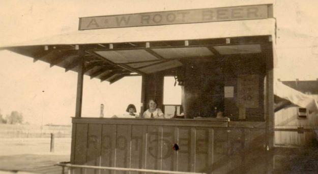 The original A&W Restaurant Back of the Menu