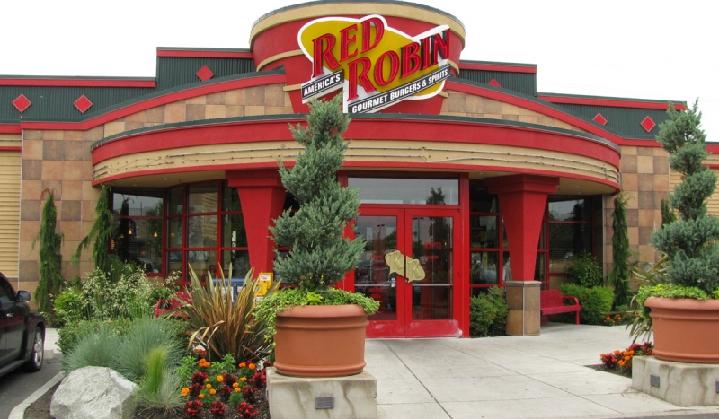 Red Robin Burgers Back of the Menu
