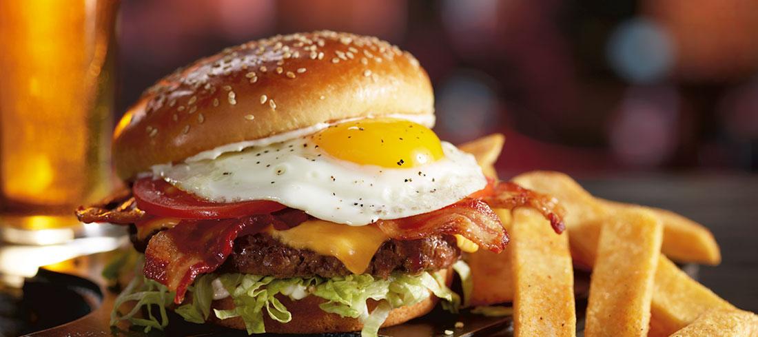 Red Robin Royal Burger Back of the Menu